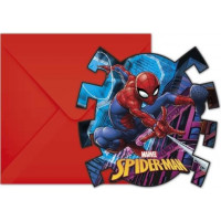 INVITATIONS + ENV SPIDERMAN X6