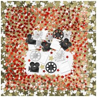 CONFETTIS TABLE LE CINEMA