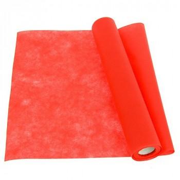 Chemin de table intissé rouge 40cm x 7m
