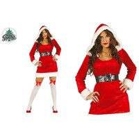 COSTUME MERE NOEL AVEC CAPUCHE TAILLE XS