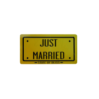 CUTOUT 22X42CM JUST MARRIED/VLM