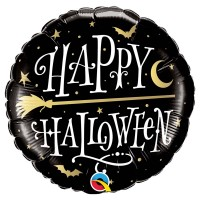 "BALLON HAPPY HALLOWEEN GOLDEN 18""45CM"